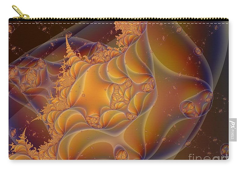 Fractal Art Carry-all Pouch featuring the digital art Somewhere by Ron Bissett