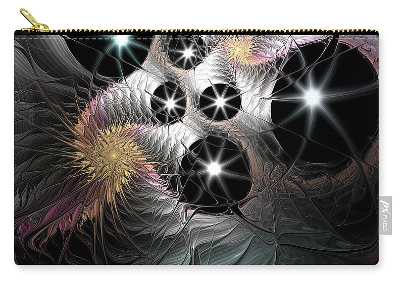 Fractal Carry-all Pouch featuring the digital art Song Of The Stars by Casey Kotas