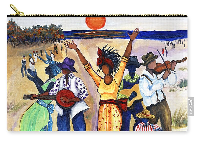Gullah Carry-all Pouch featuring the painting Songs Of Zion by Diane Britton Dunham