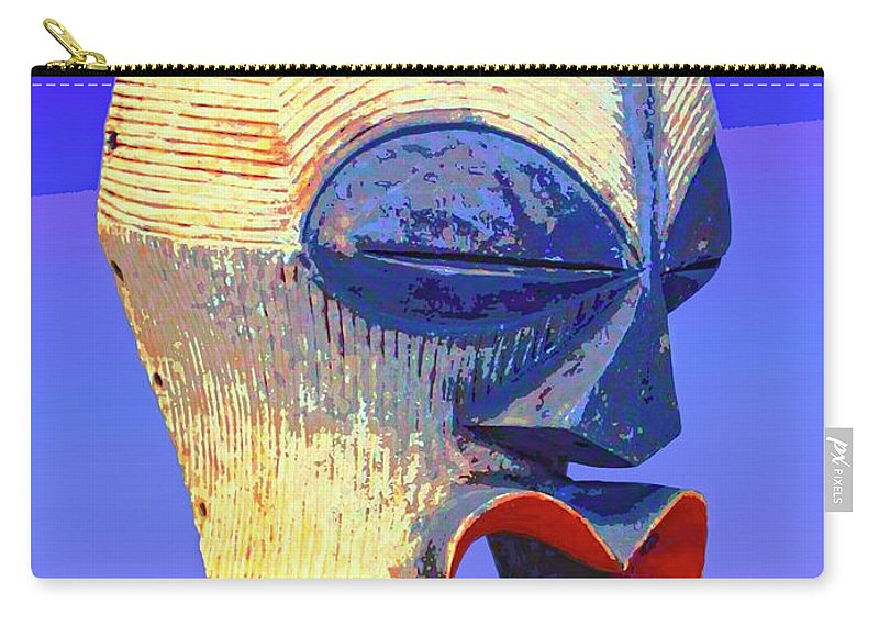 Africa Carry-all Pouch featuring the mixed media Songye Kifwebe Mask by Dominic Piperata