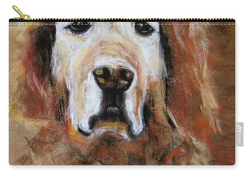 Golden Carry-all Pouch featuring the painting Sonny by Frances Marino