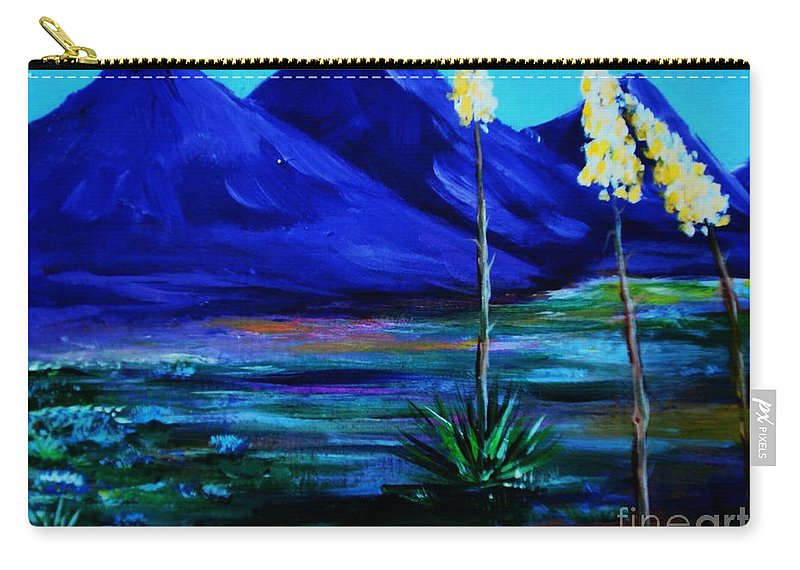Desert Carry-all Pouch featuring the painting Sonora by Melinda Etzold
