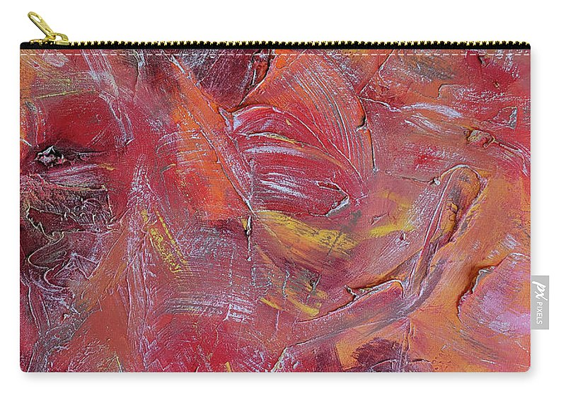 Abstract Art Carry-all Pouch featuring the painting Sonora by Trisha Pena
