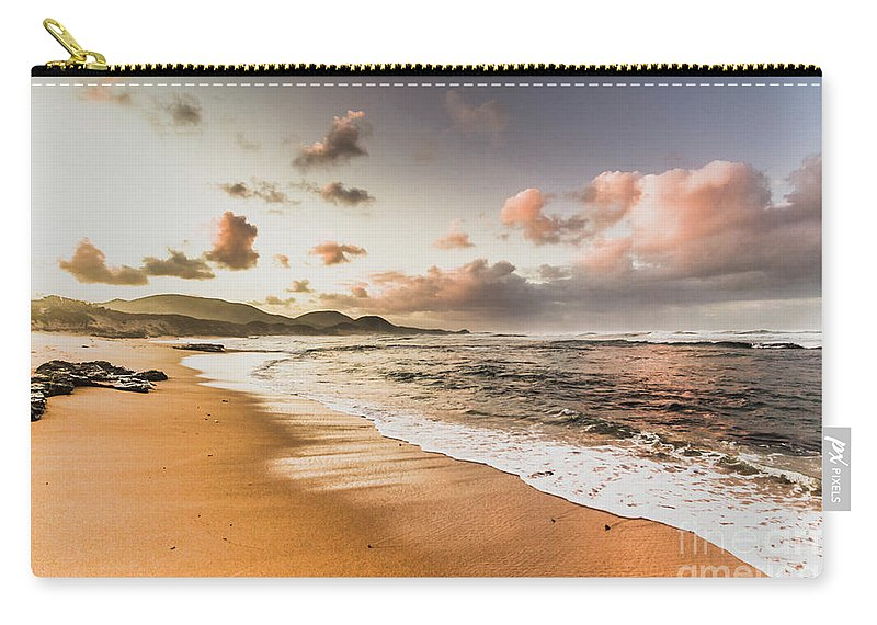 Beach Carry-all Pouch featuring the photograph Soothing Seaside Scene by Jorgo Photography - Wall Art Gallery