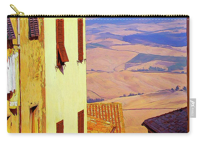 Italy Carry-all Pouch featuring the painting Sopratutto by Dominic Piperata