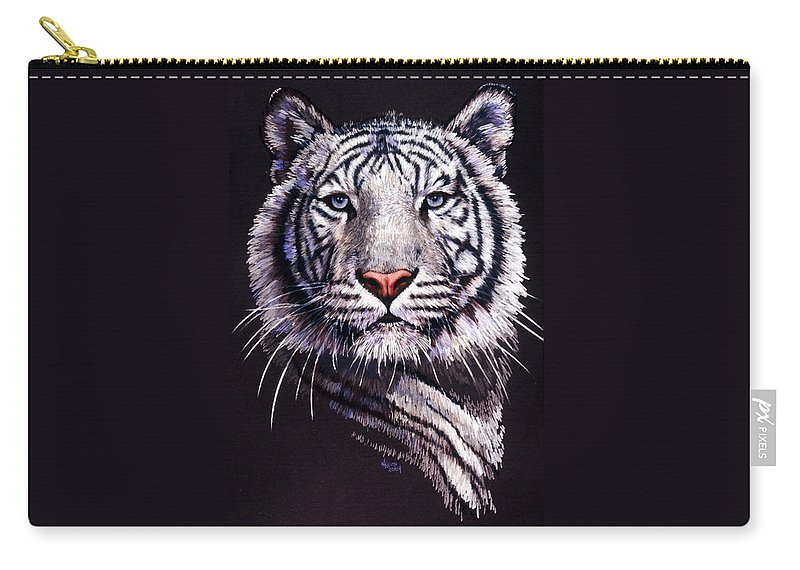 Tiger Carry-all Pouch featuring the drawing Sorcerer by Barbara Keith