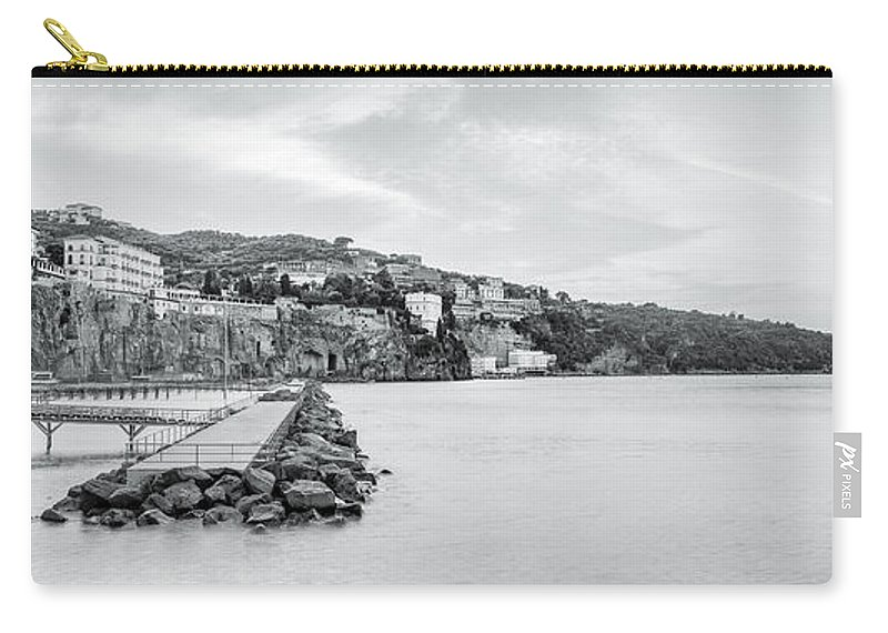 Sorrento Carry-all Pouch featuring the photograph Sorrento Town From Marina Piccola by Julie Woodhouse