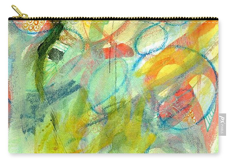 Modern Carry-all Pouch featuring the painting Sorting It Out 309 by Hew Wilson