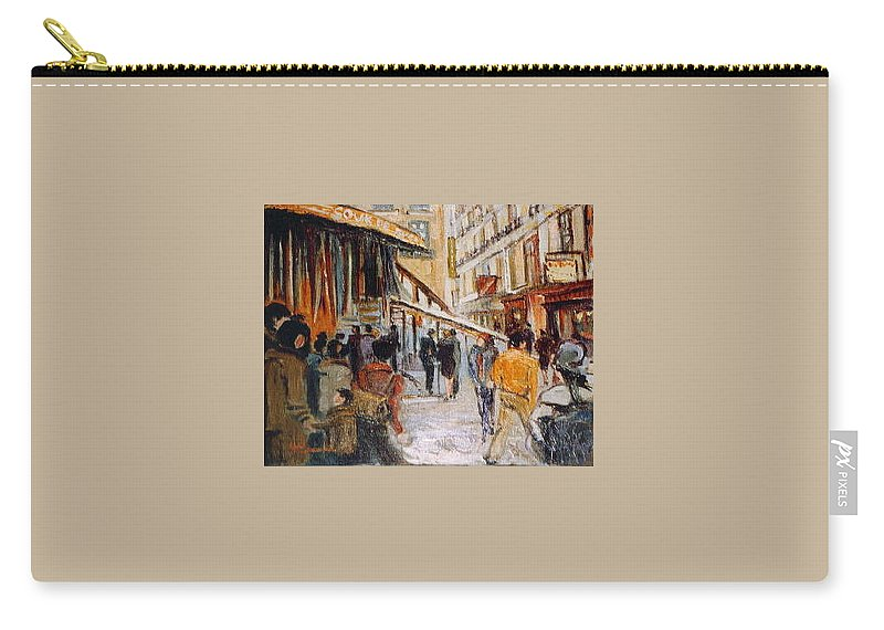 Souk Carry-all Pouch featuring the painting Souk De Buci by Walter Casaravilla