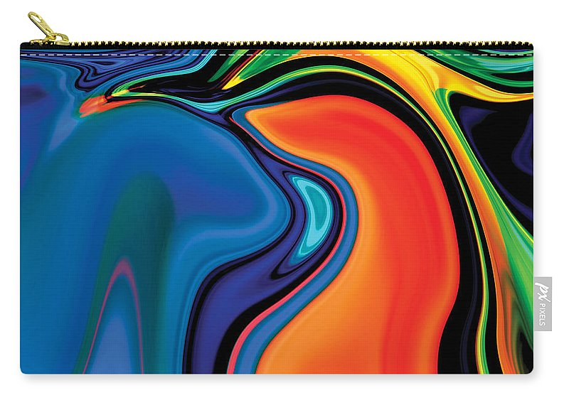 Abstract Carry-all Pouch featuring the digital art Soul Bird 2 by Rabi Khan