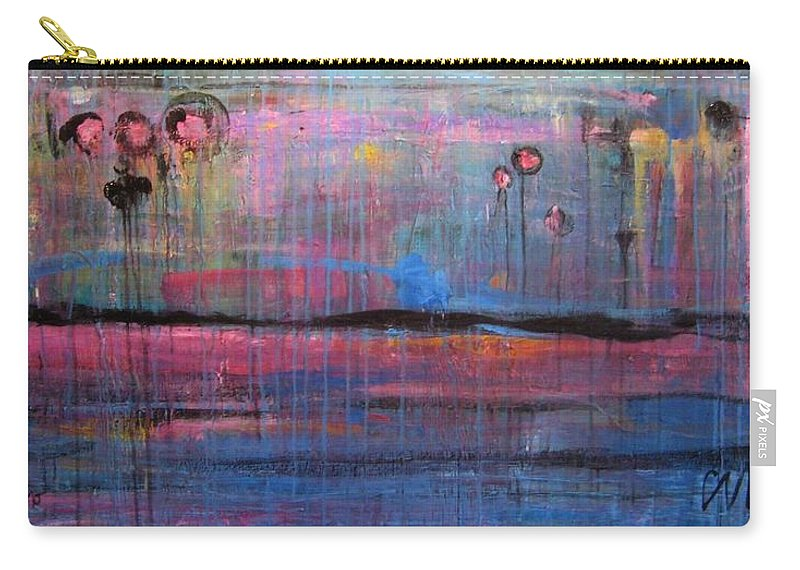 Abstract Carry-all Pouch featuring the painting Soul by Laurie Maves ART
