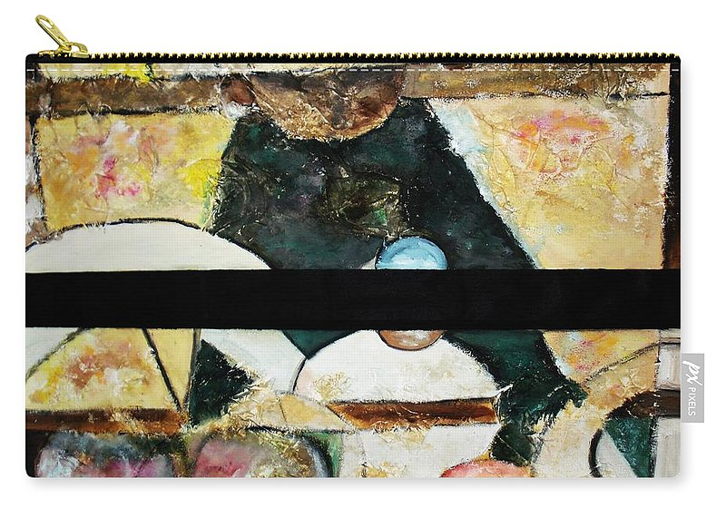 Acrylic Painting Carry-all Pouch featuring the painting Soul Mate by Yael VanGruber