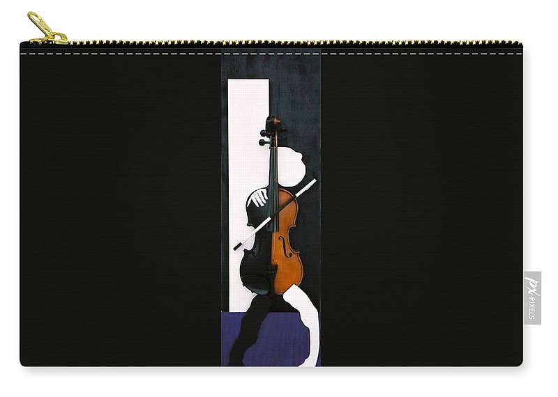 Violin Carry-all Pouch featuring the sculpture Soul Of Music by Steve Karol