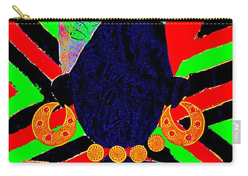 Urban Neo-renaissance Carry-all Pouch featuring the painting Soul Sista by Bruce Jernigan