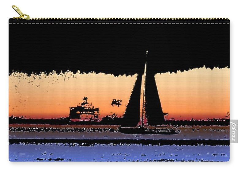 Seattle Carry-all Pouch featuring the photograph Sound Sailin 2 by Tim Allen