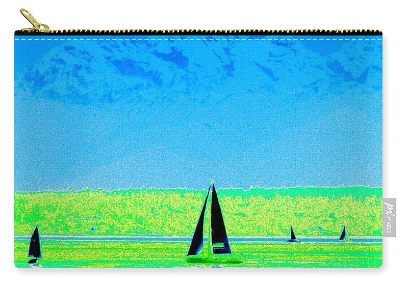 Sail Carry-all Pouch featuring the photograph Sound Sailin by Tim Allen