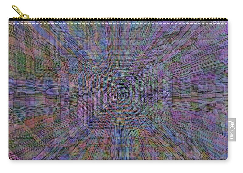 Sound Carry-all Pouch featuring the digital art Sound Waves by Tim Allen