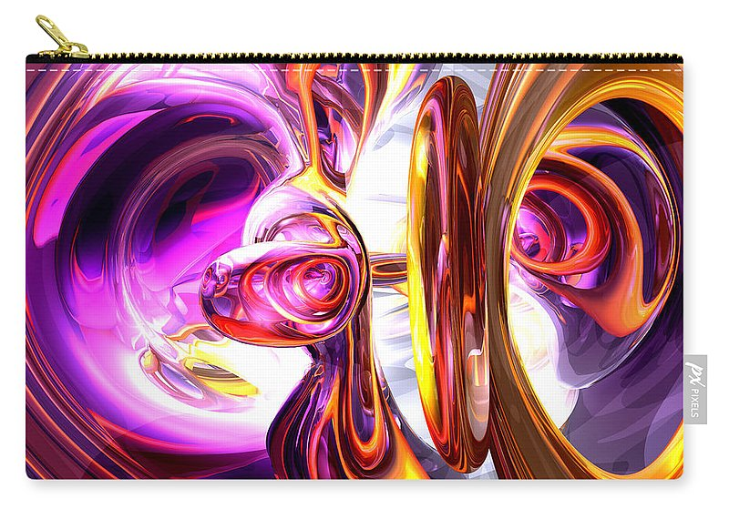 3d Carry-all Pouch featuring the digital art Soundwave Abstract by Alexander Butler