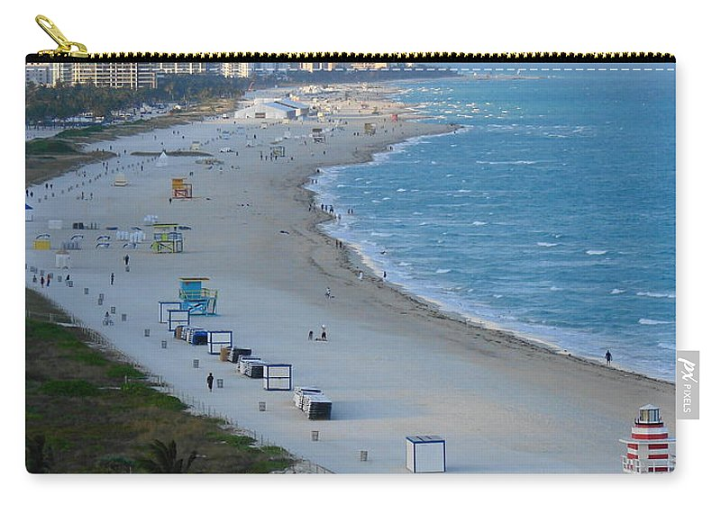 Miami Carry-all Pouch featuring the photograph South Beach At Its Best by Margaret Bobb