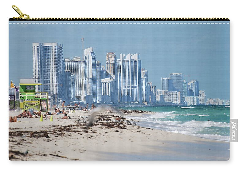 South Beach Carry-all Pouch featuring the photograph South Beach Baby by Rob Hans