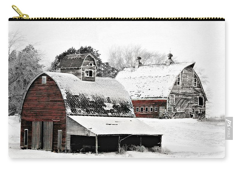 Christmas Carry-all Pouch featuring the photograph South Dakota Farm by Julie Hamilton