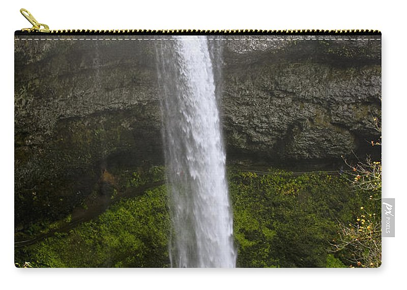 Waterfall Carry-all Pouch featuring the photograph South Falls Of Silver Creek II by Albert Seger