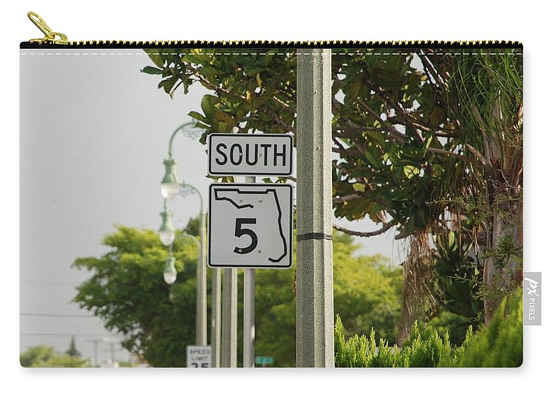 South Carry-all Pouch featuring the photograph South Florida 5 by Rob Hans