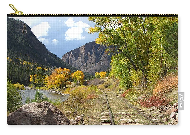 Train Carry-all Pouch featuring the photograph South Fork by Carol Milisen