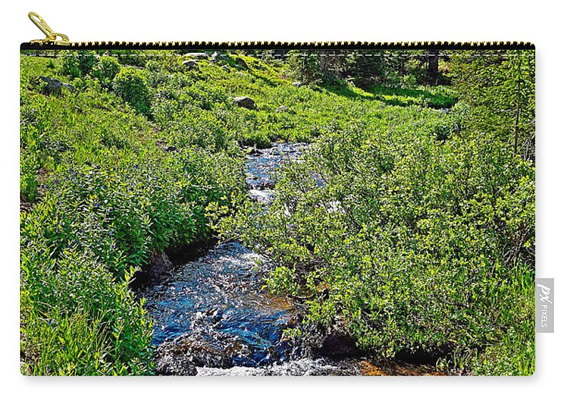 South Fork Ranch Carry-all Pouch featuring the photograph South Fork Ranch Creek Colorado by Robert Meyers-Lussier