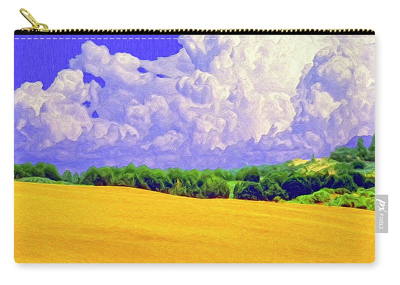 Wheat Field Carry-all Pouch featuring the painting South Forty by Dominic Piperata