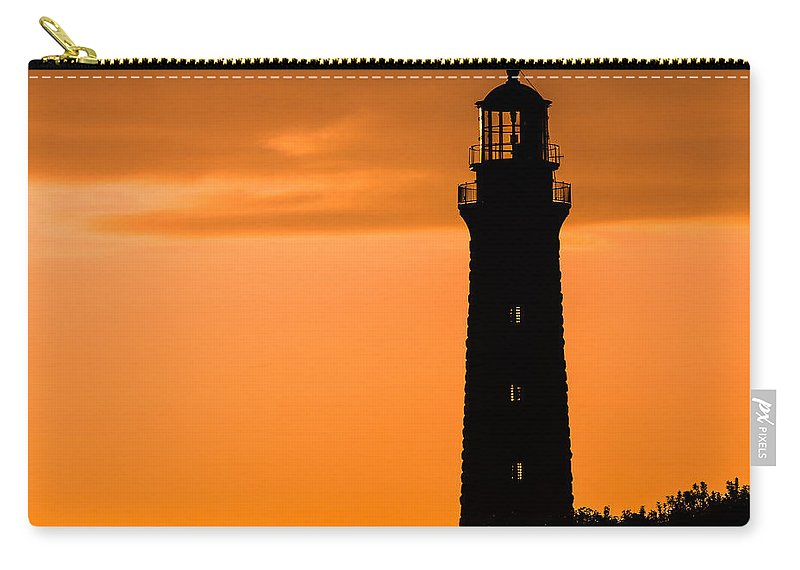 Lighthouse Carry-all Pouch featuring the photograph South Lighthouse Closeup by Tim Kirchoff