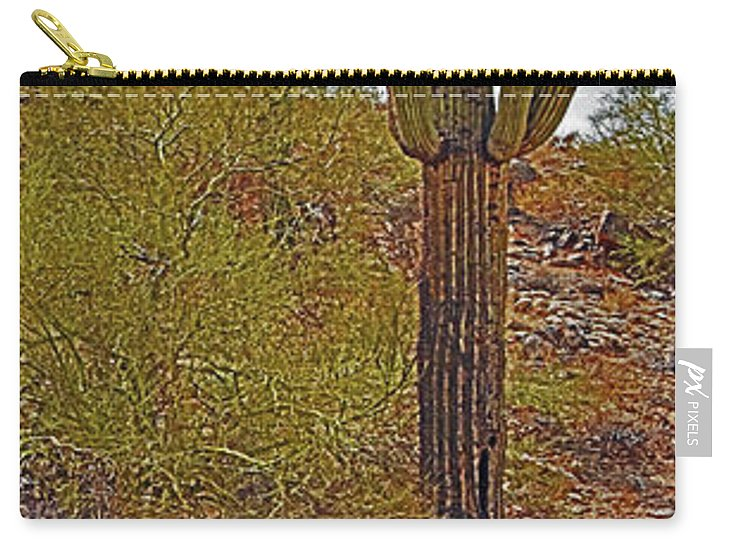 Phoenix South Mountain Carry-all Pouch featuring the photograph South Mountain6 by George Arthur Lareau