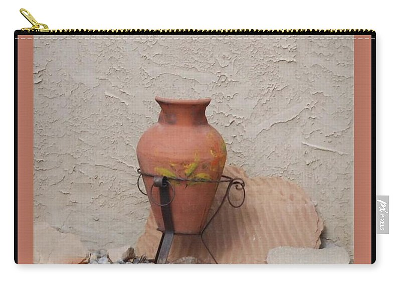 Rocks Carry-all Pouch featuring the photograph South West Potery by Rob Hans