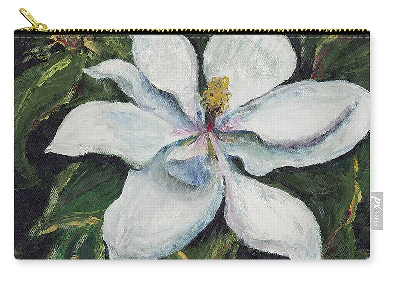 Green Carry-all Pouch featuring the painting Southern Beauty by Nadine Rippelmeyer