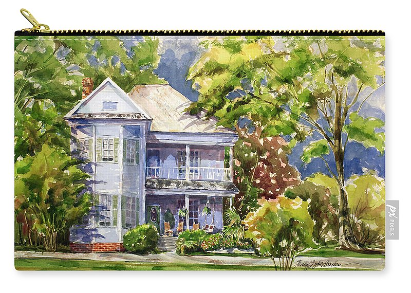 Old House Carry-all Pouch featuring the painting Southern Bell by Shirley Sykes Bracken