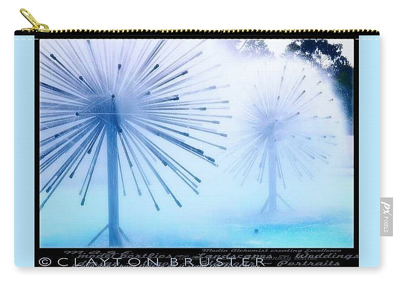 Clay Carry-all Pouch featuring the photograph Southern California Fountains by Clayton Bruster