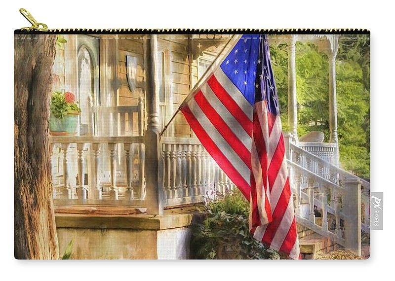 American Flag Carry-all Pouch featuring the photograph Southern Charm by Benanne Stiens