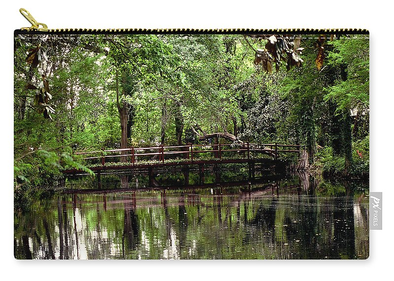 Bridge Carry-all Pouch featuring the photograph Plantation Living by Gary Wonning
