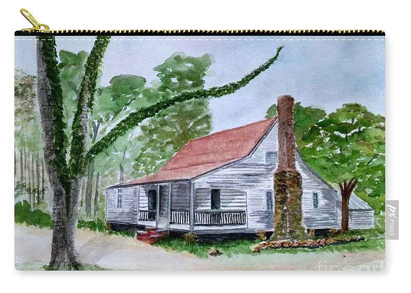 Jarrell Plantation Carry-all Pouch featuring the painting Southern Home by Lucy McGuffey