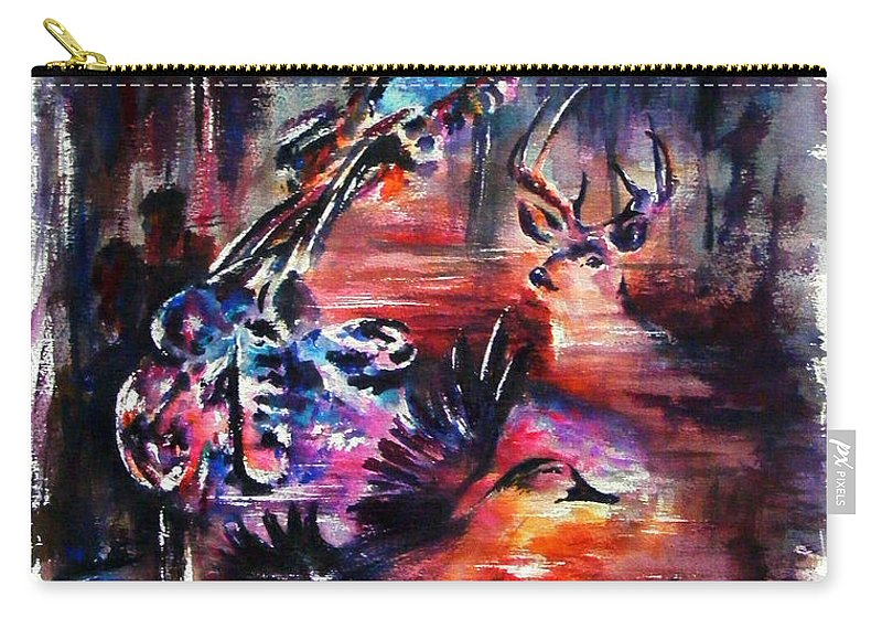 Landscape Carry-all Pouch featuring the painting Southern Man by Rachel Christine Nowicki