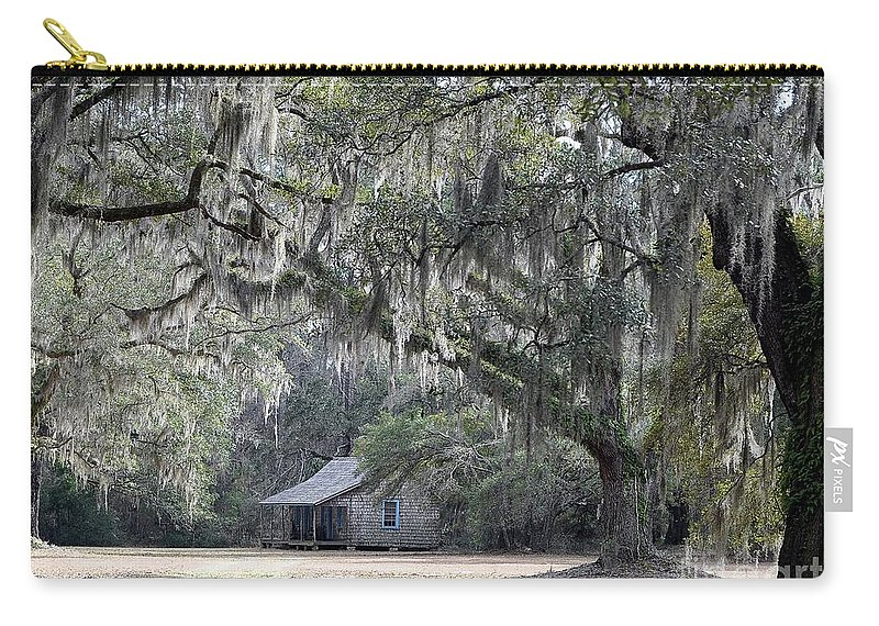 Live Oak Trees Carry-all Pouch featuring the photograph Southern Shade by Al Powell Photography USA