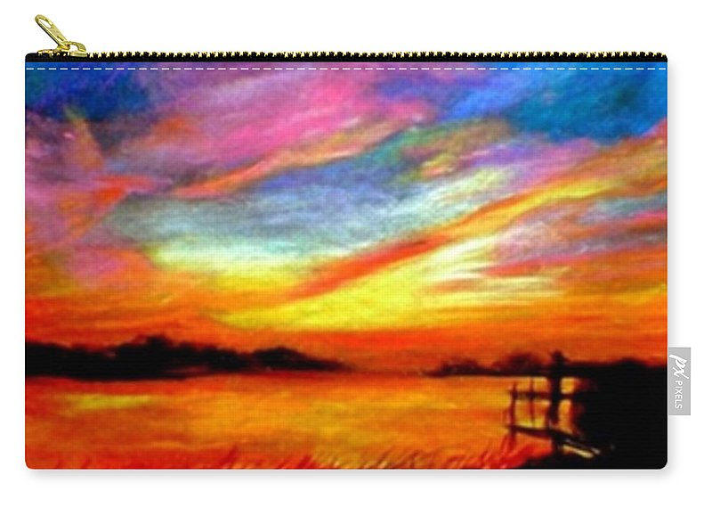 Sunset Carry-all Pouch featuring the painting Southern Sunset by Gail Kirtz