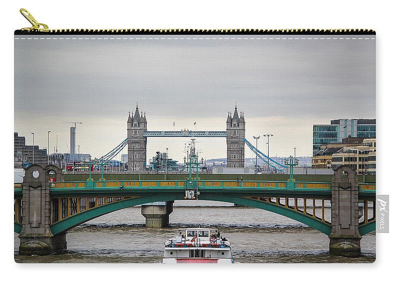 Southwark Bridge Carry-all Pouch featuring the photograph Southwark Bridge And The Tower Bridge by Sam Garcia