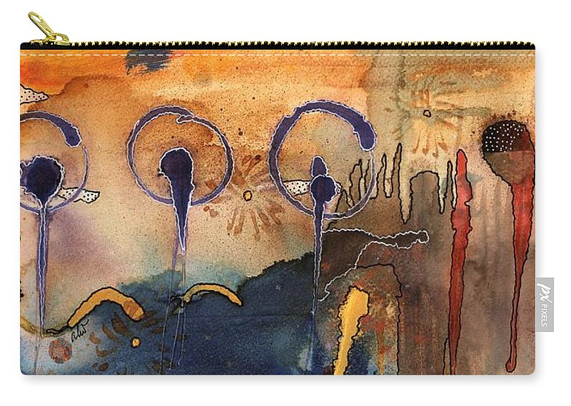 Acrylic Carry-all Pouch featuring the painting Southwest Holiday - Completed by Angela L Walker