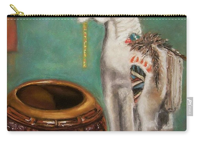 Southwest Art Carry-all Pouch featuring the painting Southwest Treasures by Frances Marino