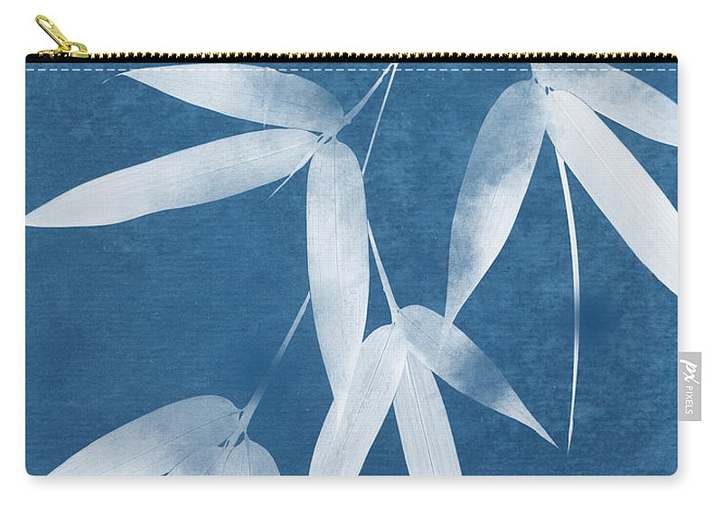 Bamboo Carry-all Pouch featuring the mixed media Spa Bamboo 1-art By Linda Woods by Linda Woods