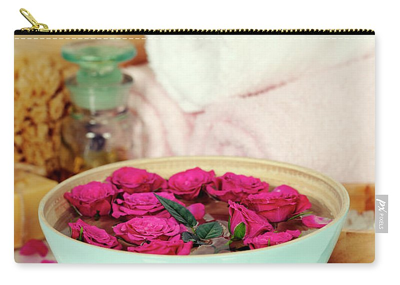 Aroma Carry-all Pouch featuring the photograph Spa Composition by Natalia Klenova