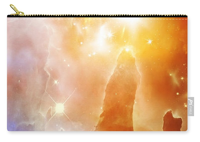 Abstract Carry-all Pouch featuring the digital art Space 007 by Svetlana Sewell