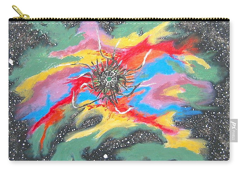 Space Carry-all Pouch featuring the painting Space Garden by V Boge