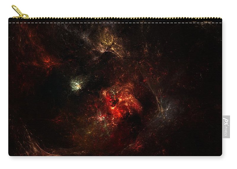 Digital Painting Carry-all Pouch featuring the digital art Space Nebula 2 by David Lane